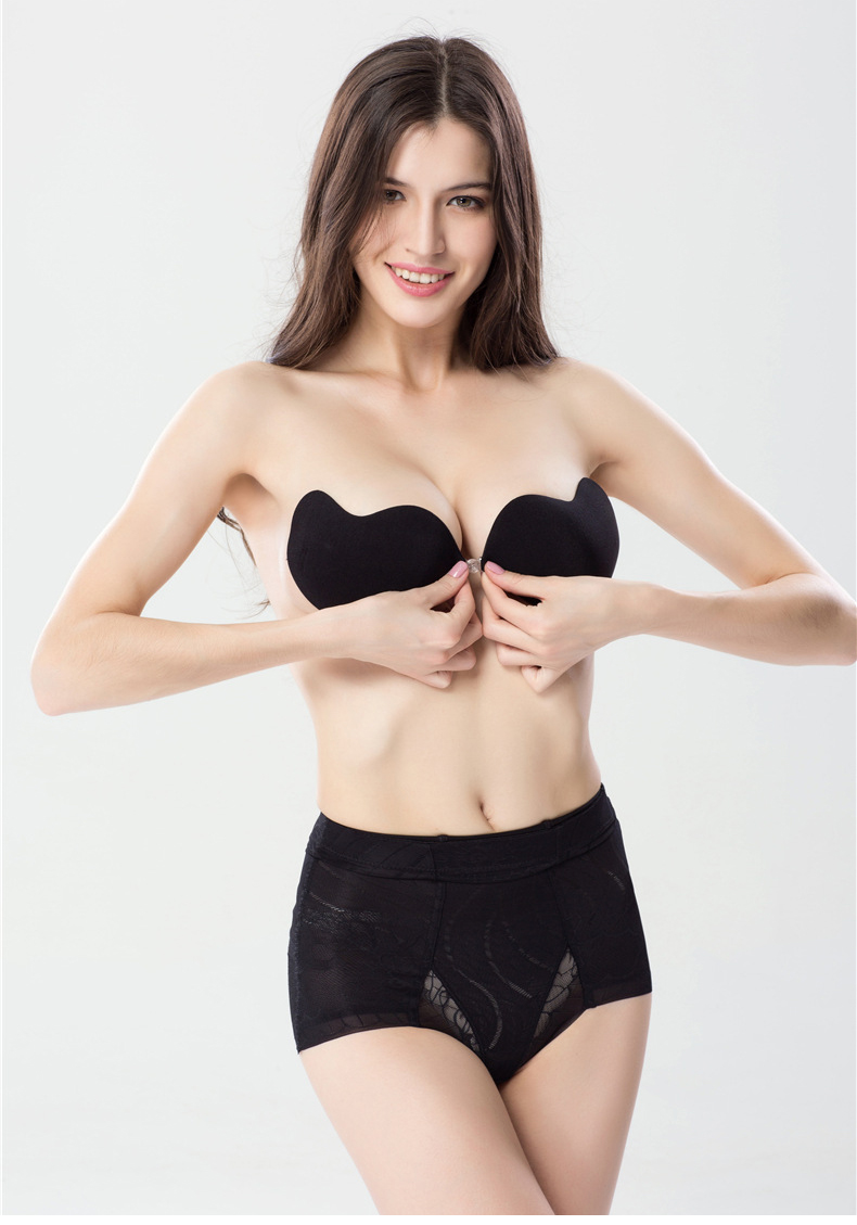 JunYan sexy ladies high quality strapless self adhesive invisible bra