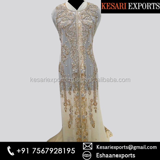 Designer Wear Farasha With Exclusive Hand Made Embroidery Design By Kesari Exports