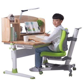 School Kids Height Adjustable Desk and Chair for Children