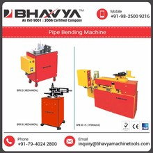 Light and Heavy Duty Hydraulic Operated Pipe Bending Machine