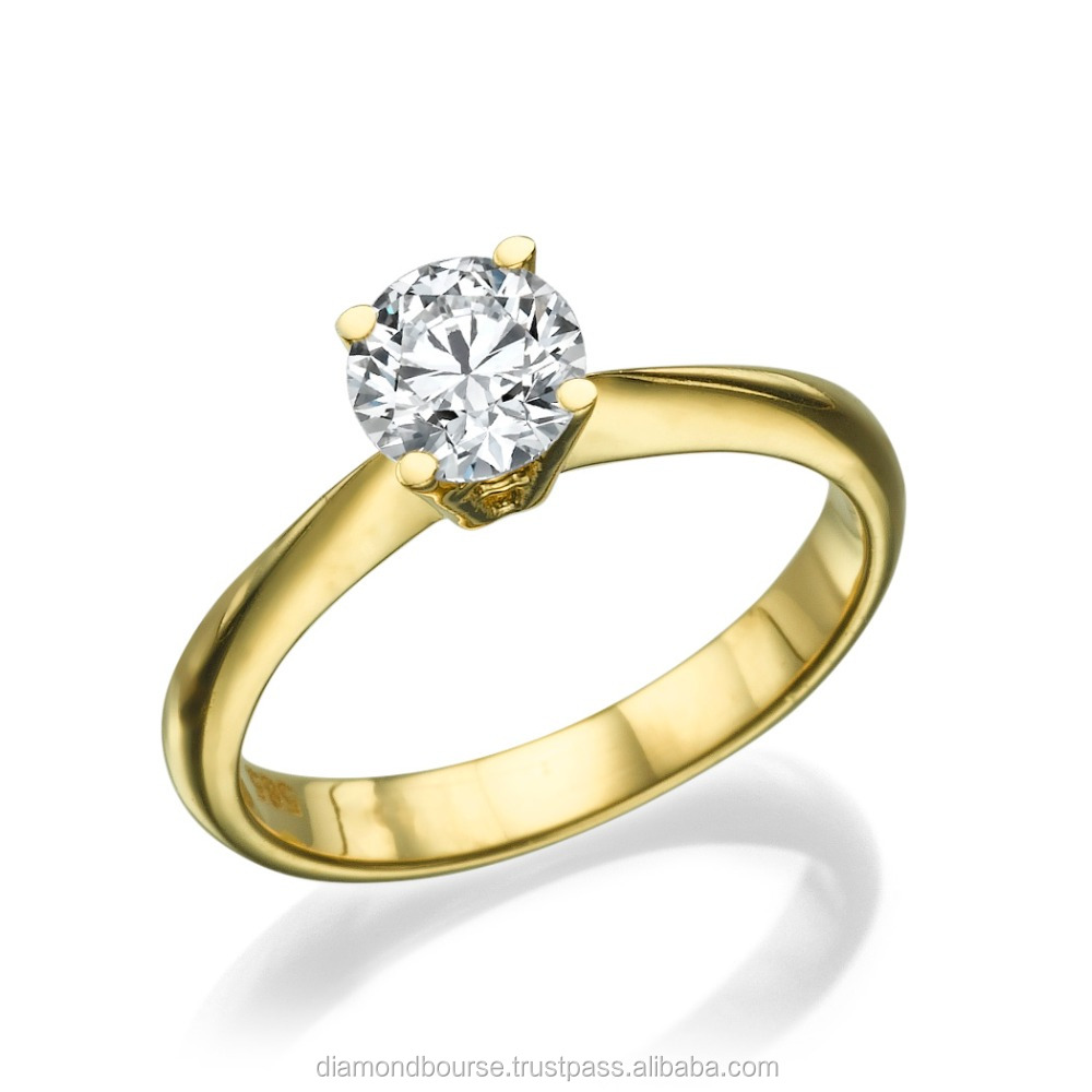 0.40 Ct Natural Ring Jewelry New Wedding Engagement Ring For Women Gift 14K Yellow Gold