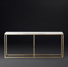 Stainless Steel Natural marble table with metal frame