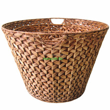 Water Hyacinth Round Basket with Bottom Narrow than Top