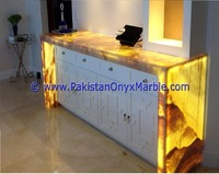 Fashion Led light transparent resin panel for Back Lit bar counter & Bar Receptions