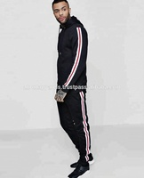 OEM brand sweatsuit gym running tracksuit for men/Men Stylish Spliced Sweater Tracksuit