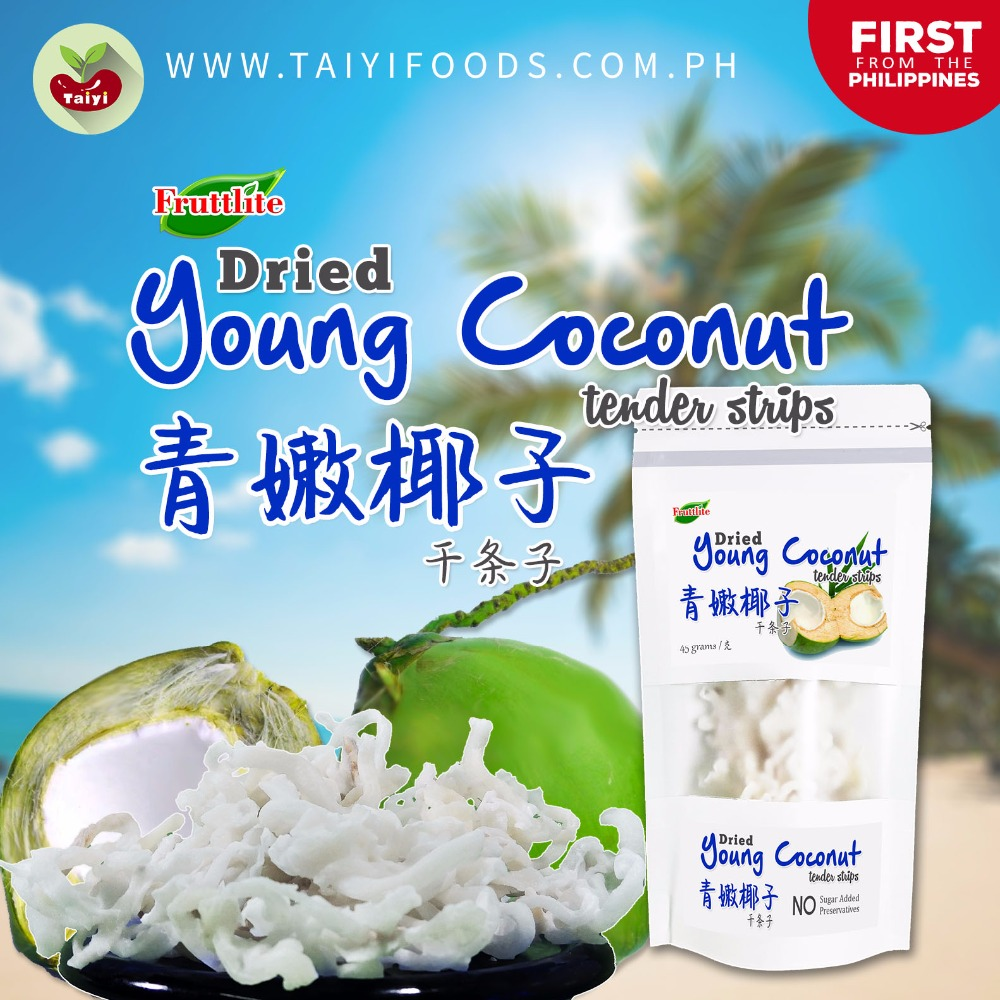 Philippine Dried Young Coconut - NEW Health Fruit Snack