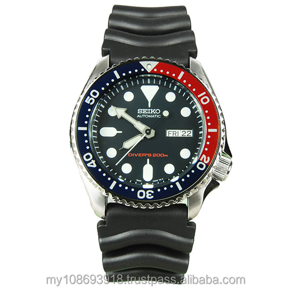 Seiko Watch SKX009K1 Divers Automatic Deep Blue Dial Black Rubber Men's Watch
