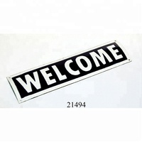 Manufacturer & Exporter of Metal Enamel Iron Sheet Wall Sign/ WELCOME SIGN