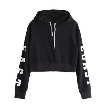 Ladies Hoodies contrast Women Hoodies printing body print long sleeve customs  hoodies sweatshirt manufacture from  Bangladesh