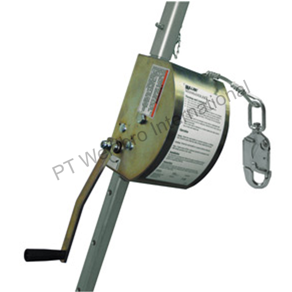 Manhandler Personnel Hoist with Galvanized Steel Cable for Fall Protection
