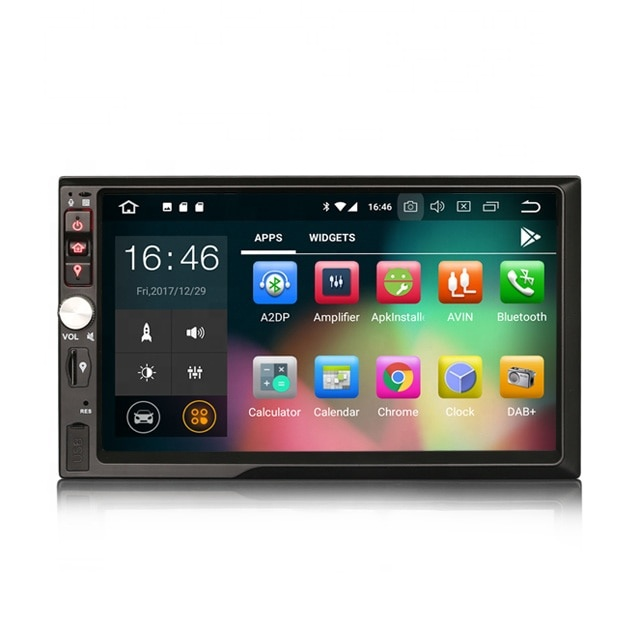 "ERISIN ES3841B 7"" <strong>Android</strong> 8.1 2 Din Car Stereo Radio Car Dvd Player GPS Satnav 4G WiFi DAB+ TPMS DVR Car Dvd Player Gps Radio"