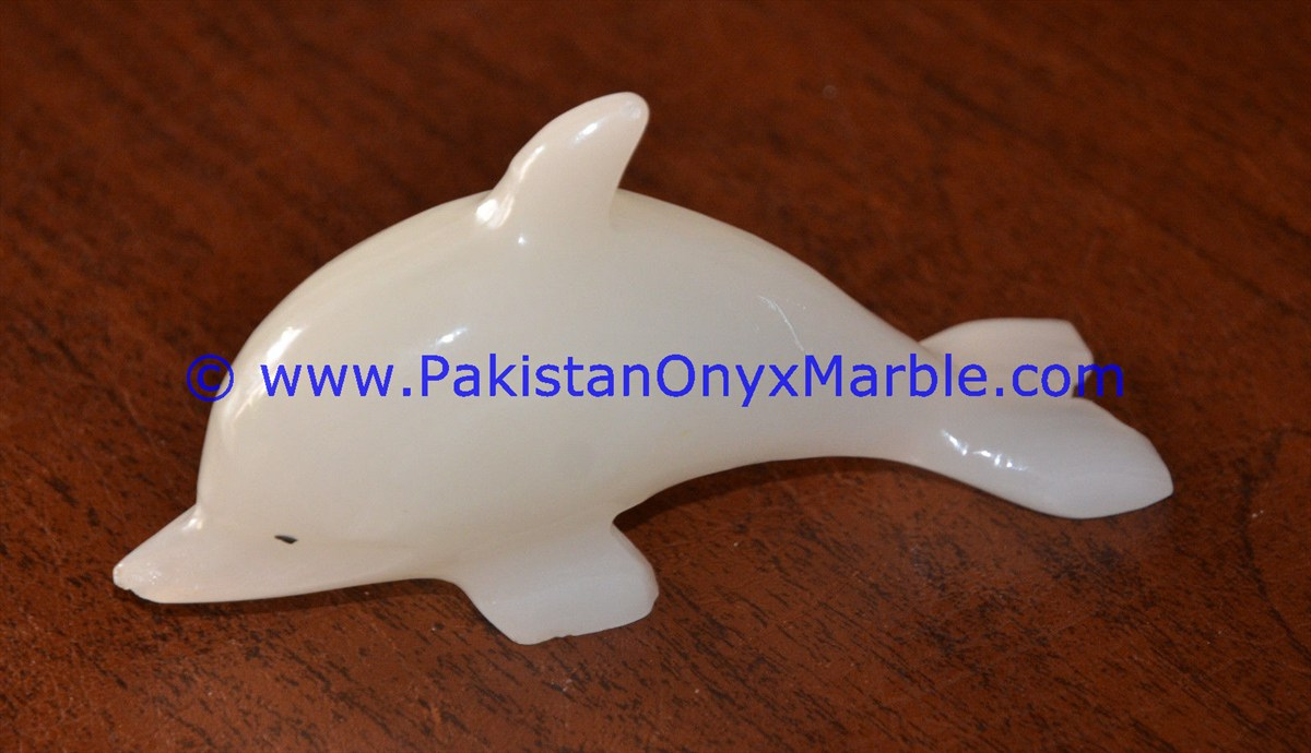 GOOD QUALITY ONYX DOLPHINS FISH WHITE