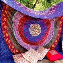 Indian Cotton Mandala Tapestry