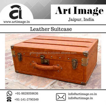 New Vintage Style Leather Suitcase At Low Price From Reliable ...