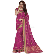 Magenta Color Silk Saree / Catalogue Sarees Wholesale / Designer Sarees Online Shopping