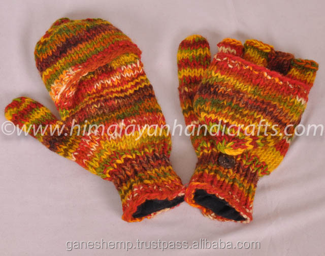 Hand Knitted Woolen Knitted Hunter Gloves HHWG 502