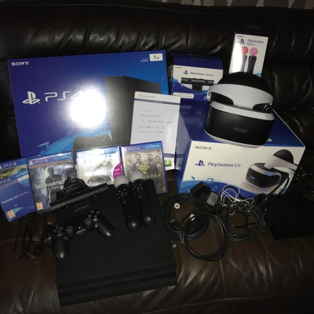 ALL NEW SONY PLAYSTATION 4 PRO 1TB PS4 WITH COMPLETE ACCESSORIES