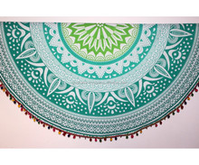Indian wholesale Block Printed Round Roundies Tapestries Mandala Bedsheets with Pillow Cover