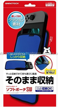 The soft pouch for Handheld game console -Blue color