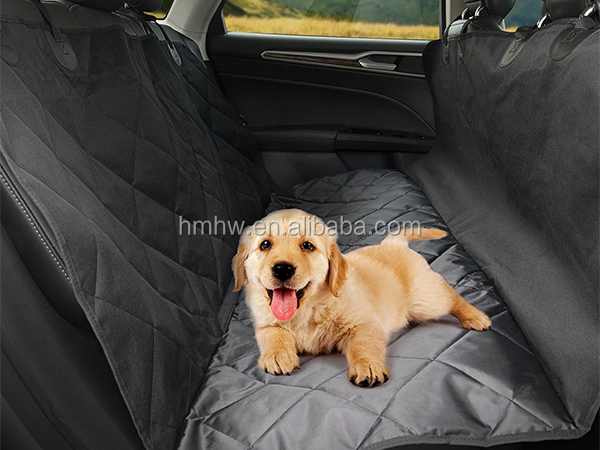 black oxford pet car seat cover for dog travel