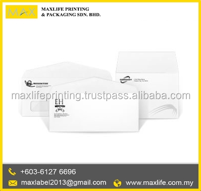 High Quality Custom Made One Color Paper Envelope