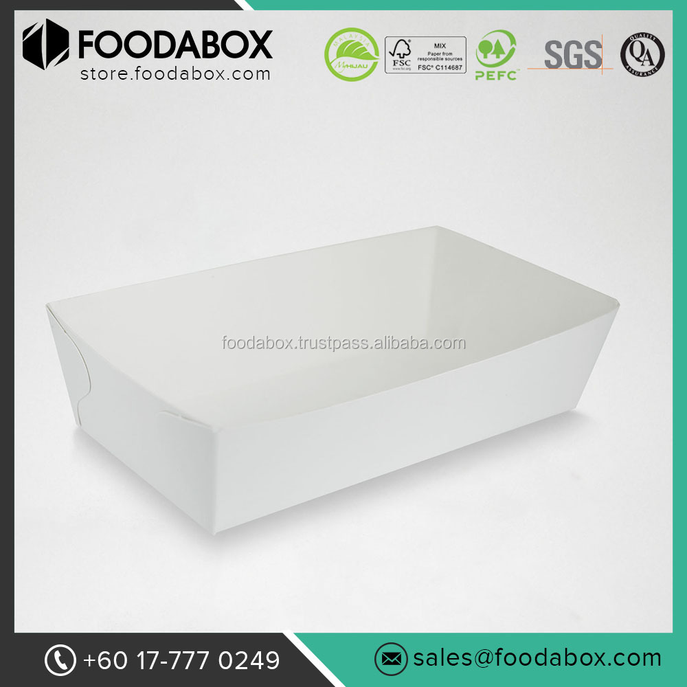 Disposable and Custom Printed Serving Hot Food Paper Boat Tray