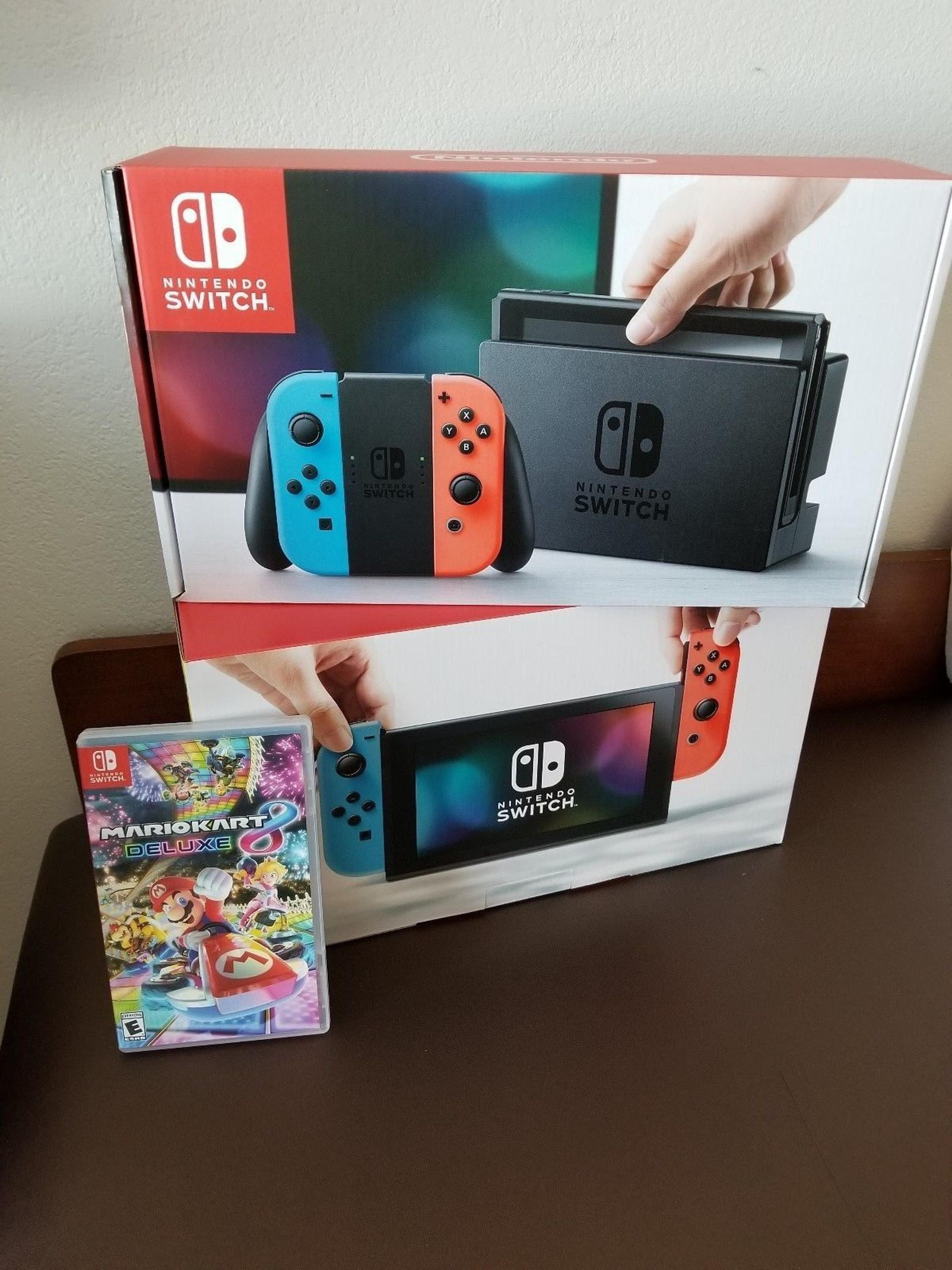 Free Shipping BUY 5 GET 3 Nintendo Switch Console NEON Zelda Breath of the Wild BOTW Bundle WITH 30 GAMES AND 2 CONTROLLER