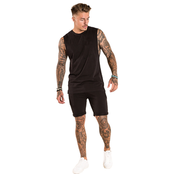 TS-300237 dark chocolate 100% Cotton Jersey T-Shirts and Shorts Twinsets