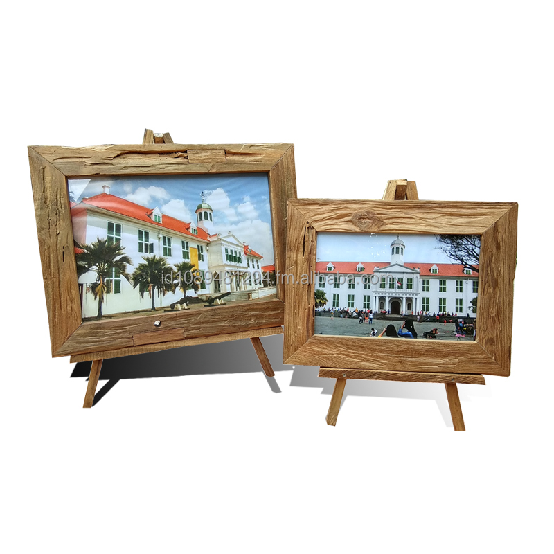 Rustic Teak Wooden Photo Frame - Stand Back Photo Frame - Wholesale - Call/Whatsapp: +628122833040