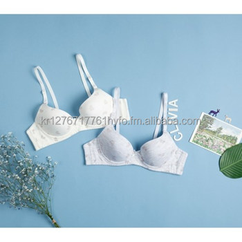 Printed (Heart & Bike) Soft Mold Bra (Wire/ No-wire) and Brief Set