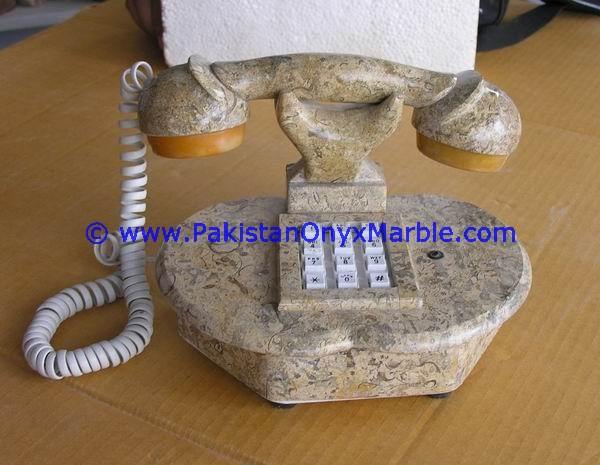 NEW MARBLE HANDCRAVED TELEPHONE SET CRAFTS HANDMADE UNIQUE