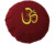 OM embroidered round pleated buckwheat filled meditation cushion zafu
