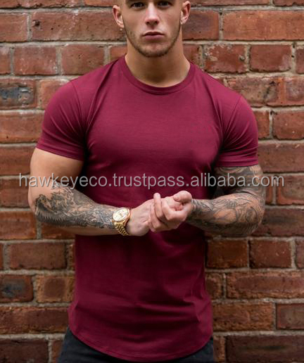 Summer trend new fashion long line mens curved hem t shirt manufacture by Hawk Eye Co. (PayPal Verified)