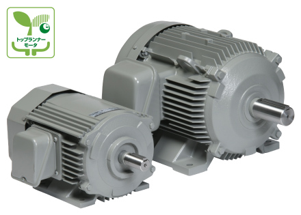 Industrial motor and gearmotor by Hitachi Industrial Equipment Systems. Made in Japan
