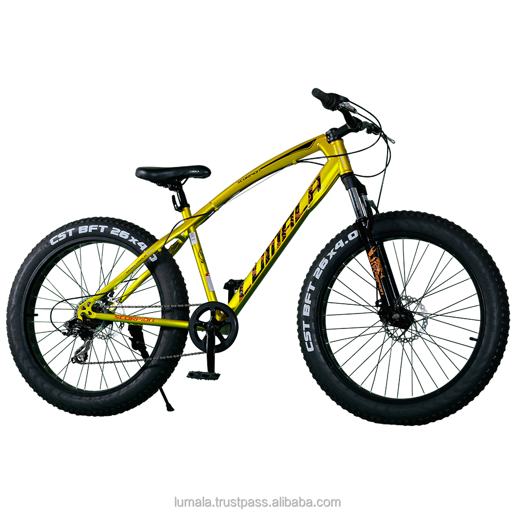 26' Multi Speed (Shimano) Fatbike with Front Suspension LUMALA SCORPION FATBOY
