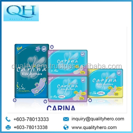 Quality Hero CARINA SANITARY NAPKIN Ultra Soft Sanitary Pads for Ladies disposable female