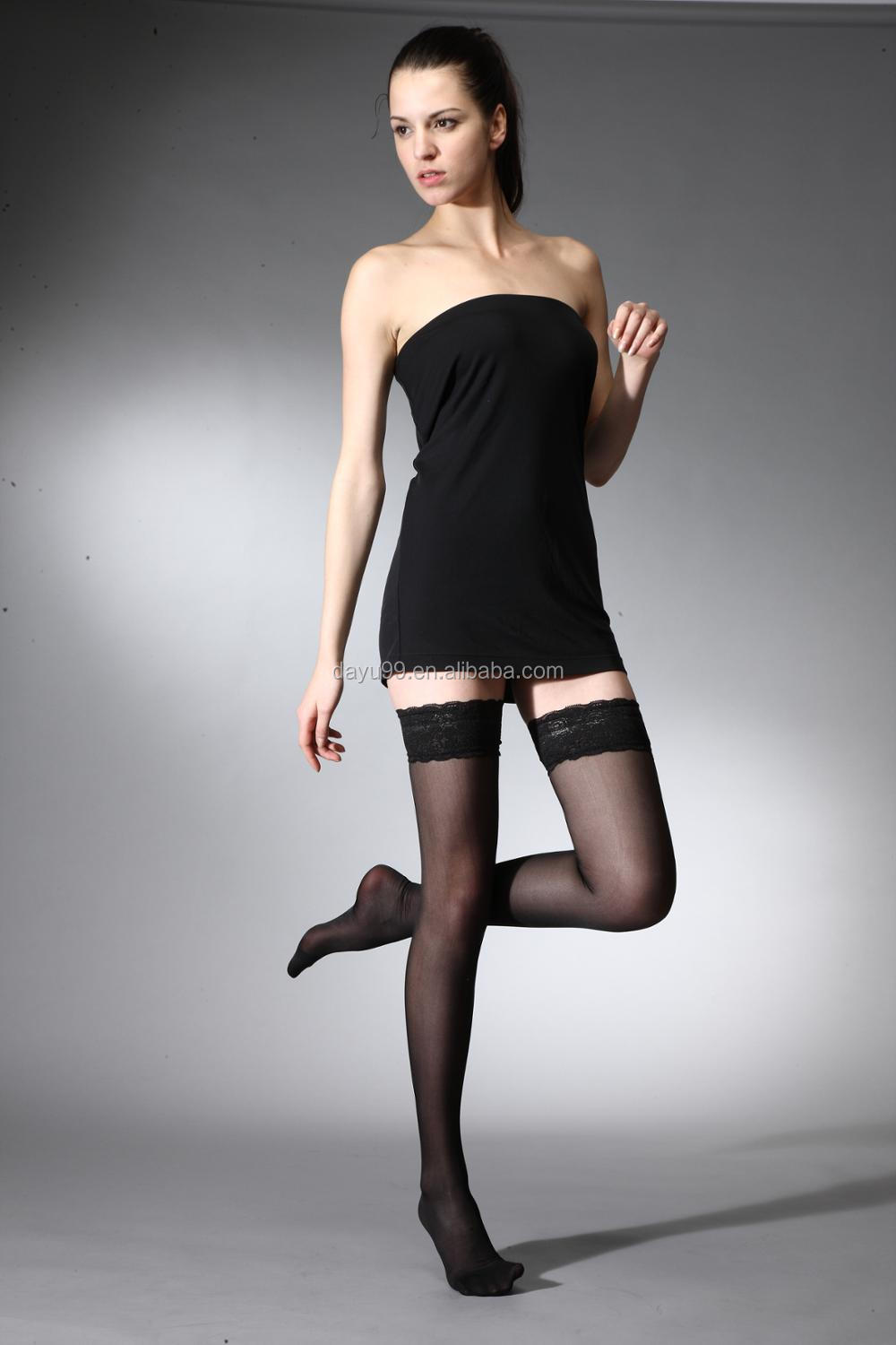 Sheer Thigh High Stocking Health Care Compression socks Taiwan produced