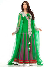 Green Georgette Kaftans At Wholesale Price / Arabian Kaftan Dresses / South African Style Kaftans