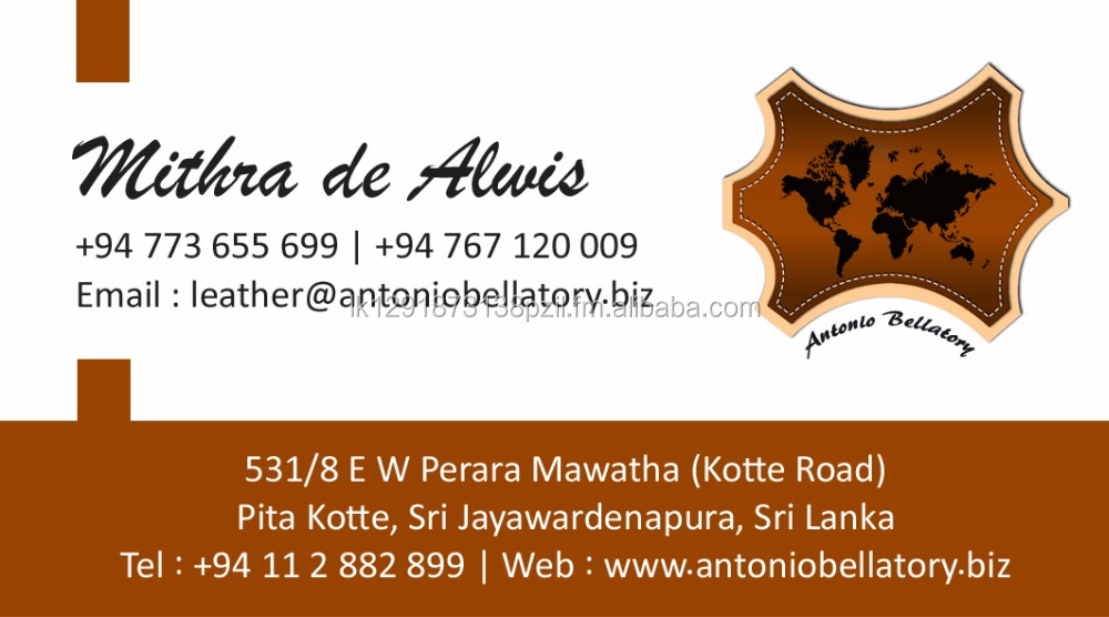 Top Grain Leather - Antonio Bellatory Bella Sri Lanka Leather Man