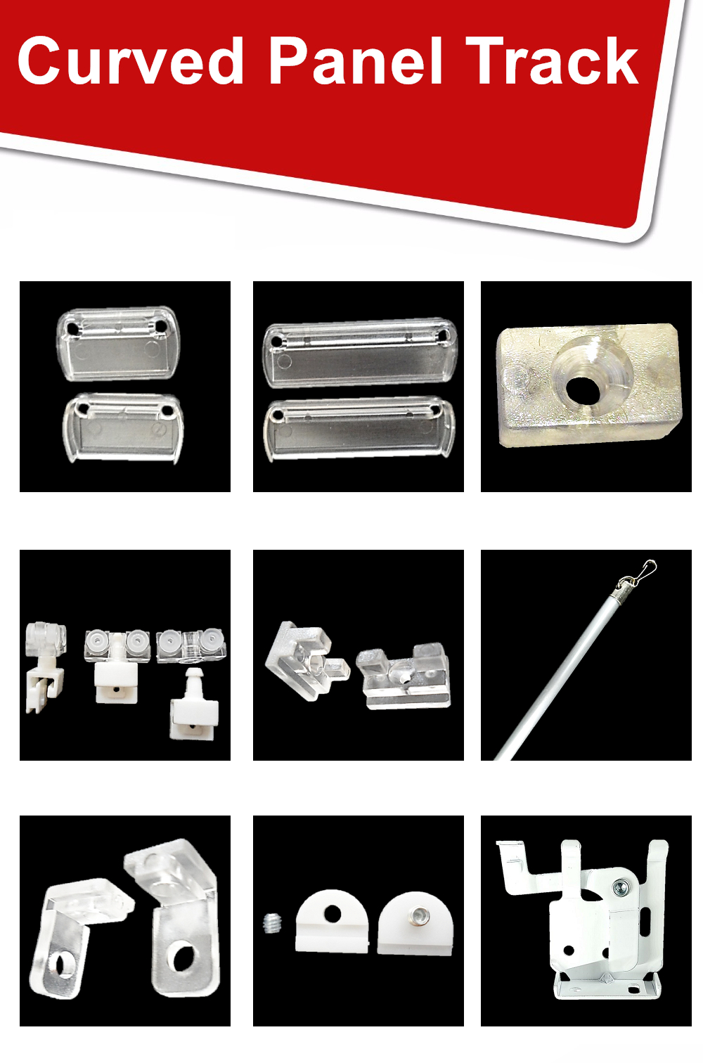 Factory price Panel Track Blind Roman Shade Hook and Loop Fastener
