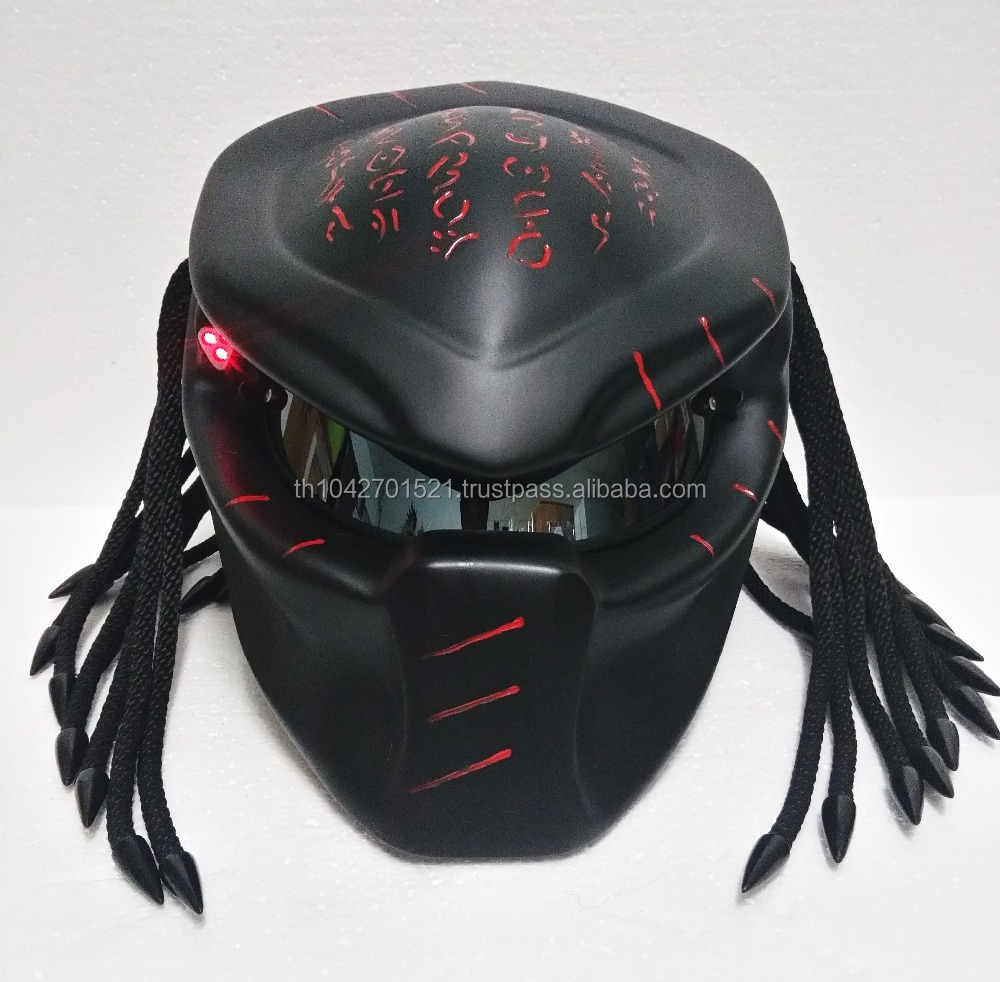 Predator Motorcycle Helmet Top Quality Custom Craft DOT /ECE Approved Matt Black
