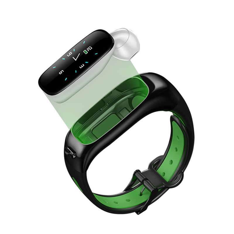 Best Selling 2 In <strong>1</strong> Cellphone Tws Bluetooth Wireless Handsfree Earphone Sport Wristband Android Smart Watch