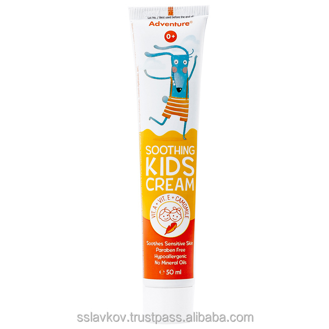 "Soothing Kids Cream ""'Adventure""' with Vitamin A, E & Chamomile, 50 ml"