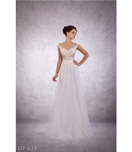 New collection Europian design A Line Wedding Dress / Bridal Gown Lacy Beaded Lace Elements Fashionable Tulle skirt