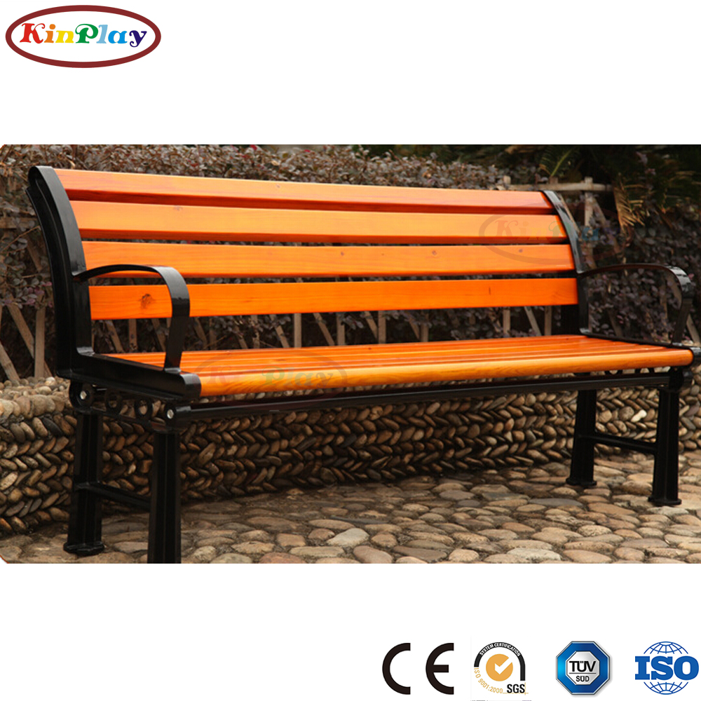 KINPLAY brand recycle wood plastic waterproof outdoor park WPC chair