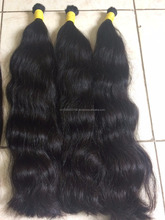 Remy Hair Straight and Wavy Natural Hair Bulk, Easy to Dye