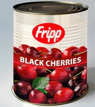 Canned Pitted Black Sweet Cherries in Syrup