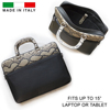 Genuine Python Leather Snake Skin Luxury High End Laptop Messenger Bag Office Business Made in Italy