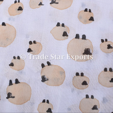 Cotton Indian Kids Fabric Hand Blocked Dress Making Fabric Throw