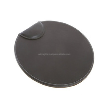 Leather Wrist Support, Comfort Gel Mousepad (Black)